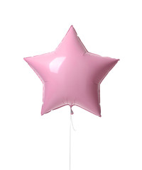 Single pink big 36 inch metallic balloon star object for birthday