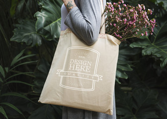 Design space on tote bag