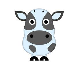 ушастая пятнистая корова