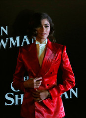 "U.S. actor Zendaya poses for photographers during the red carpet of his latest film, a musical directed by Michael Gracey called ""The Greatest Showman"", in Mexico City"