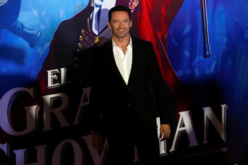 "Australian actor Hugh Jackman poses for photographers during the red carpet of his latest film, a musical directed by Michael Gracey called ""The Greatest Showman"", in Mexico City"