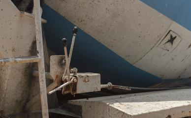 Hydraulic equipment in cement trucks.