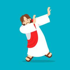 jesus dab flat illustration