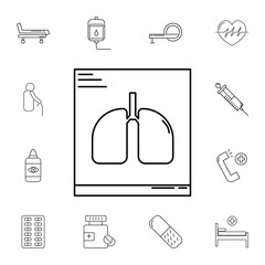 Lungs X-Ray line icon. Set of medecine tools icons. Web Icons Premium quality graphic design. Signs, outline symbols collection, simple icons for websites, web design, mobile app