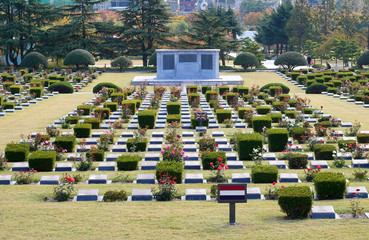 The United Nations Memorial Cemetery in Busan, South Korea.