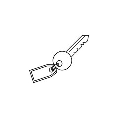 key with a key ring line Icon. Travel line icon. Element of rest icon. Premium quality graphic design. Signs, outline symbols collection icon for websites, web design, mobile app