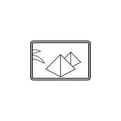 egyptian pyramids in painting line icon. Travel line icon. Element of rest icon. Premium quality graphic design. Signs, outline symbols collection icon for websites, web design, mobile app