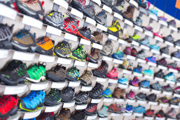 Image of large selection of sport shoes