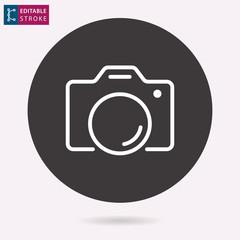 Photo line vector icon. Editable stroke.