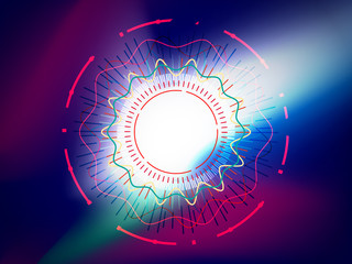 Abstract circle on colorful background. technology background concept.