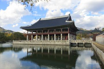 korean royal palace, Gyeongbokgung, landscape