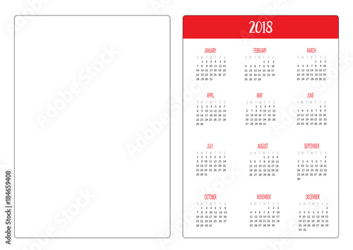 pocket calendar templates