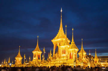 People have visit to the exhibition of King Rama 9, After the ceremony, The great fire. The palace and the government. And allow public to visit at Sanam Luang Park Bangkok. November 28, 2017