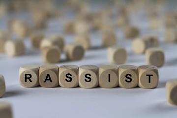 RASSIST - Bilder mit Wörtern aus dem Bereich Rassismus, Wort, Bild, Illustration
