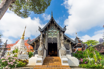 Wat Chedi Luang. A Buddhist temple in the historic centre of Chiang Mai, Thailand.