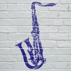 Graffiti, saxophone