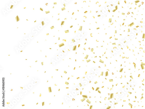 golden tinsel flying confetti christmas new year birthday party background holidays creative