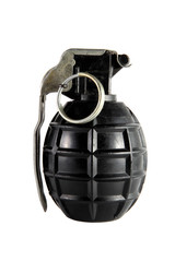 Hand grenade on a white background