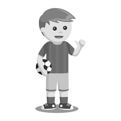 Soccer ball player vector illustration design black and white style