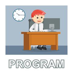Businessman program photo text style