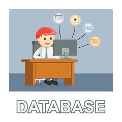 Businessman database photo text style