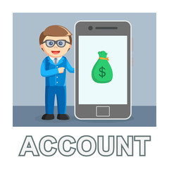 Businessman account photo text style