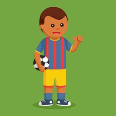 African soccer ball player