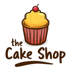 The Muffin Cake Shop icon Logo