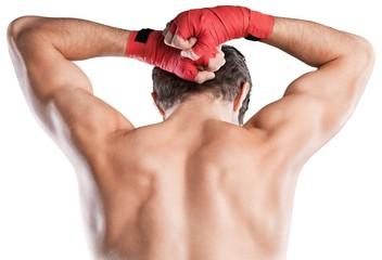 Male Boxer / Kickboxer, Back View