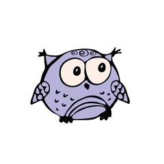 Cute owlet,hand drawn little owl mascot