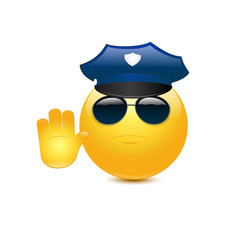 Policeman with glasses