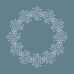 Snowflake wreath for Christmas season