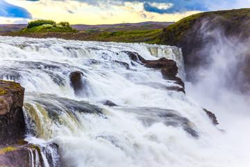 Cascade waterfall Gullfoss