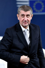 Czech Republic's PM Babis arrives for the Visegrad Group meeting in Brussels
