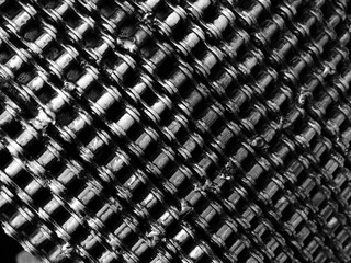 texture of roller chains