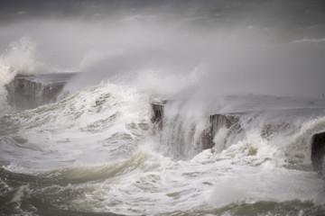 Sturmflutartige Überschwemmungen und wasserbewegungen an der nordsee