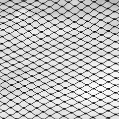 fishing net against a white background