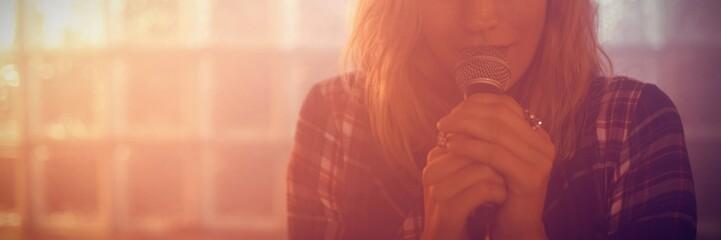 Portrait of female singer