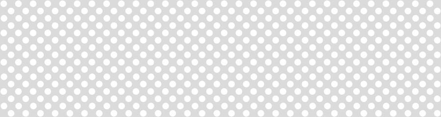 Breiter grauer Banner mit weißen Punkten