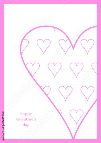 Elegant Herz Aus Herzen   Valentinskarte
