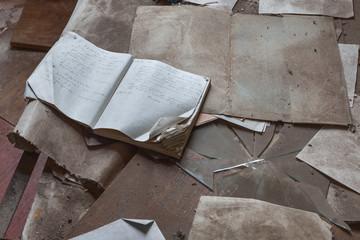 Destruction in Chernobyl kindergarten.