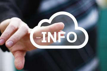 Business button cloud info