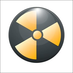 Nuclear symbol on a white background