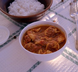 Spicy and warming Indian chicken curry
