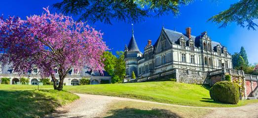 Romantic beautiful castles of France- Chateau de la Bourdaisiere in Loire valley