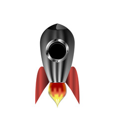 Rocket space ship , isolated vector illustration. Simple retro spaceship icon.