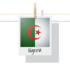 African country flag collection with photo of Algeria flag , vector , illustration