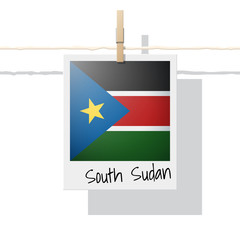 African country flag collection with photo of South Sudan flag , vector , illustration