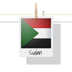 African country flag collection with photo of Sudan flag , vector , illustration