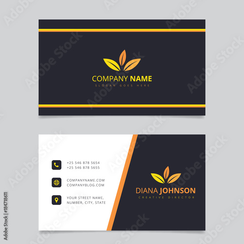 modern simple business card vector template creative and clean